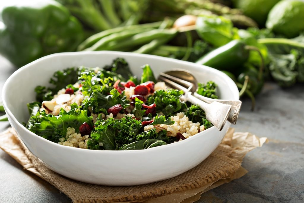 Healthy kale salad