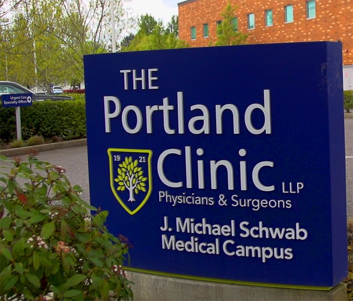 A photo of The Portland Clinic J. Michael Schwab Medical Campus in Tigard.